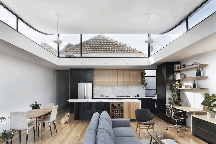The Roof Of This New Northcote House Curves Upwards To Provide Sunlight 1