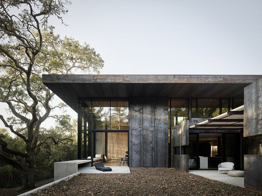 CorTen Steel House in Northern California, Faulkner Architects 16
