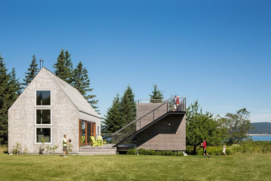 This Cranberry Isles House is a Modern Interpretation of the Traditional New England Farm