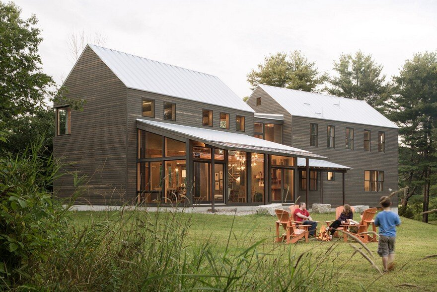 Family Farmhouse Built With Salvaged Materials from an Antique Barn