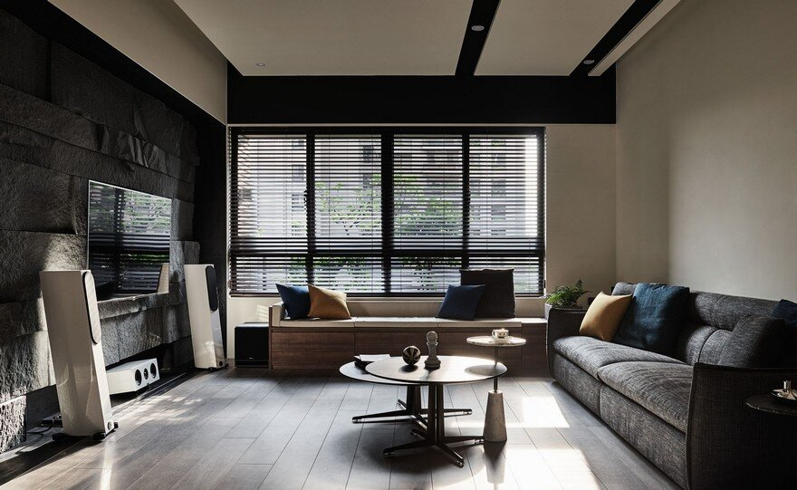 Taichung Apartment Featuring Dark Hues and an Elegant Material Palette 2