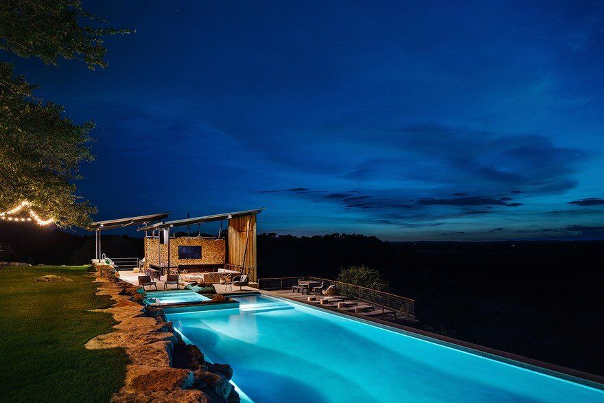 Ranch House and Pool Pavilion in Texas, Drophouse and ROOT Design 14