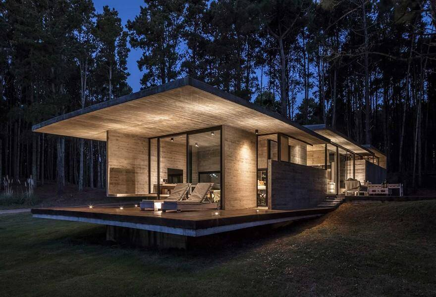 Forest Concrete House by Besonias Almeida Arquitectos 17