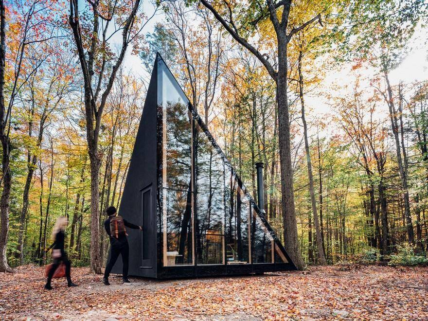 Triangular Shape Tiny House by BIG - Bjarke Ingels Group