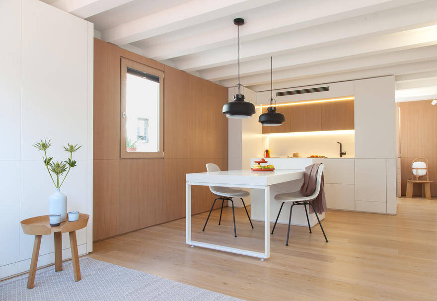 Interior Reform of a Mini Apartment in Barcelona's Gracia District