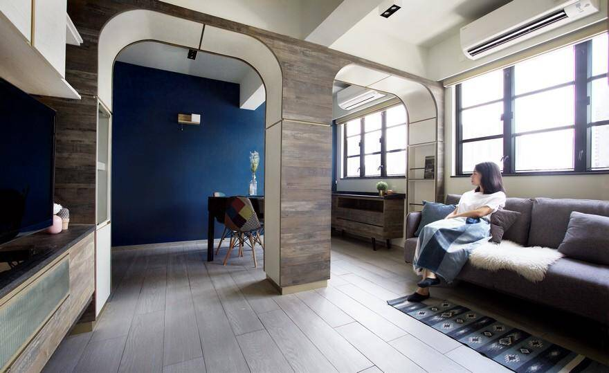 Arch Co-Residence: Experiencing The Beauty of Space Between The Arches 2, living room 1