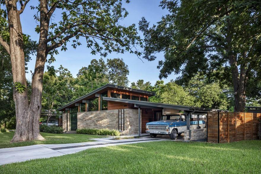 Central Austin House Remodeled in the Spirit of the Original Mid-Century House 1