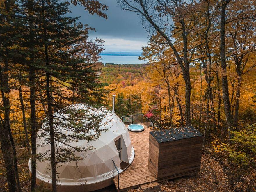Eco-Luxurious Accommodations Dômes Charlevoix near Quebec City