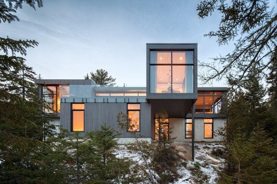 Long Horizontals House, Thellend Fortin Architectes 13
