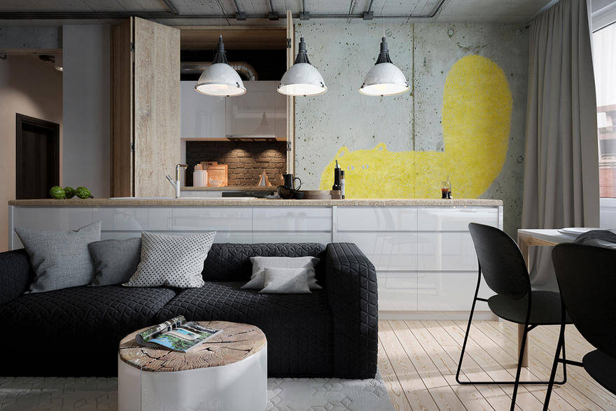 Minimal and Loft Style for a Young Family with a Son