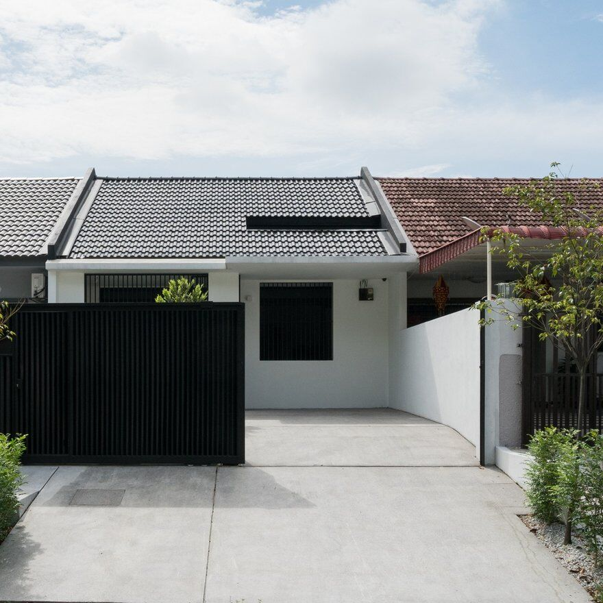 Minimalist Single Storey Terrace House Fabian Tan Architect