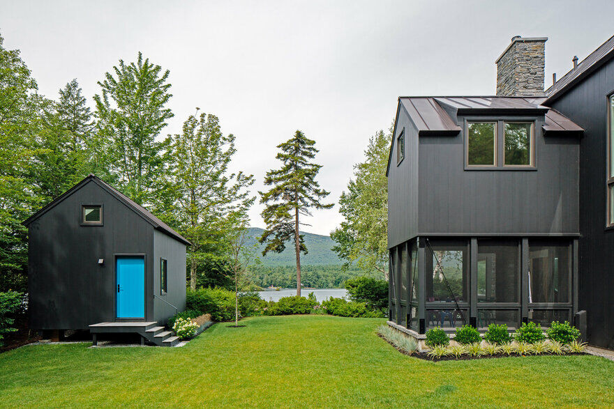 A modest cabin is rebuild on its former footprint