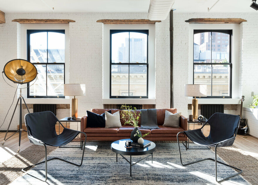 SoHo Loft Transformed into an Industrial Retreat for Bicoastal Lifestyle