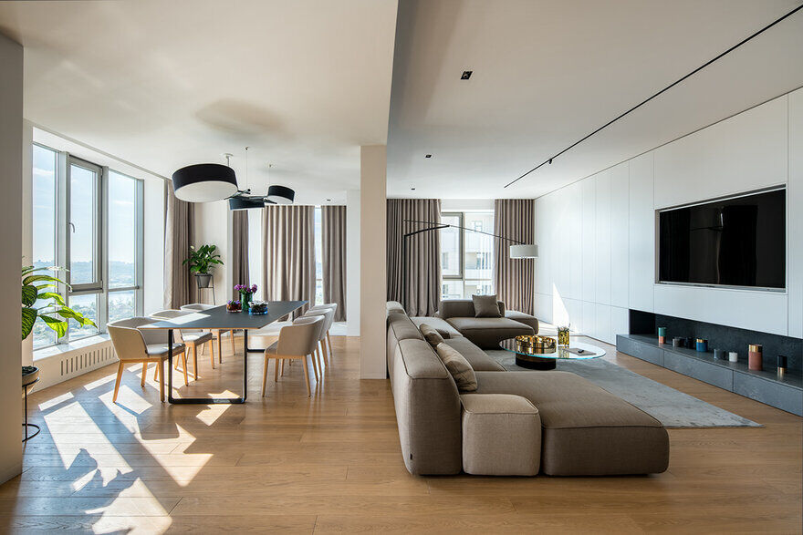 Minimalist Interior Designed by ZOOI for a Young Family
