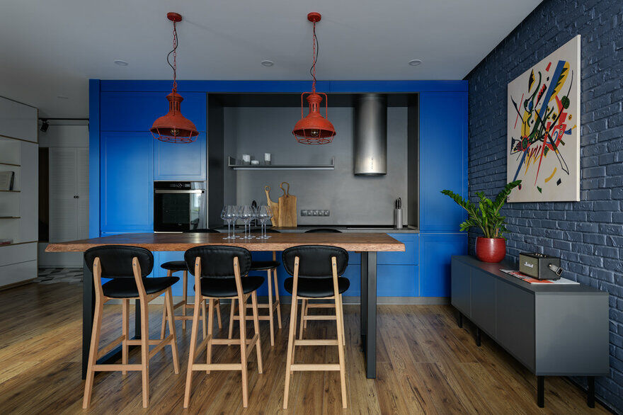 One-Bedroom Stylish Apartment in Kiev Reflects a Bold Personality