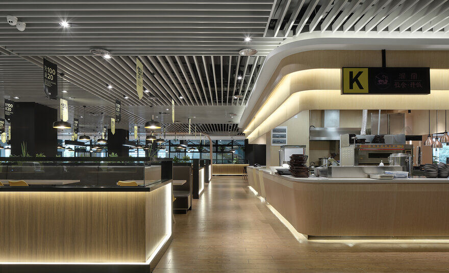 MEICAN ZONE Innovative Office Cafeteria / Sanshangshan Decoration Design