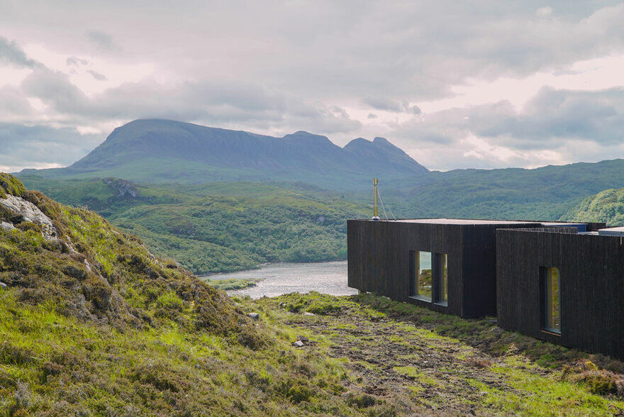 Loch Nedd Modular House Built of Cross Laminated Timber