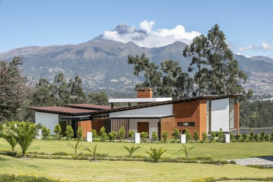 House AO - Architecture and Context, Looking at the Imbabura Volcano