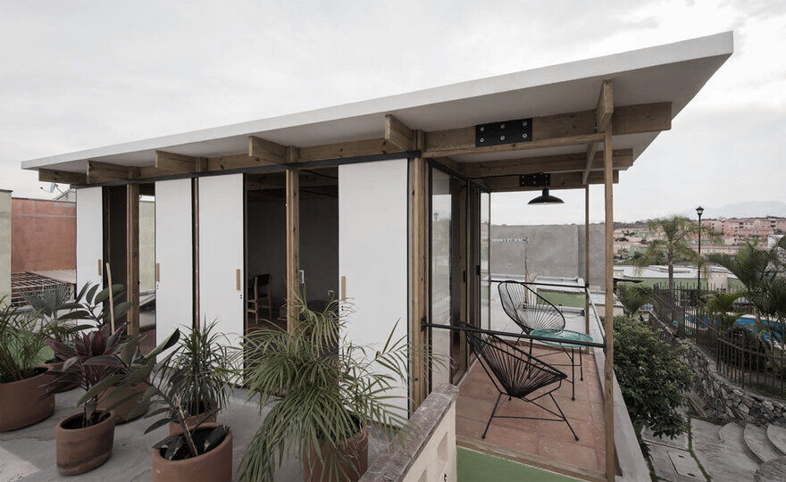 TANAT Proposes a Housing Expansion Prototype That Adds a 16 sqm Room on the Roof