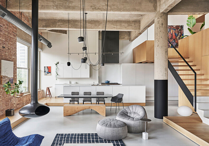 Michigan Loft Inside a Century Old Structure / Vladimir Radutny Architects