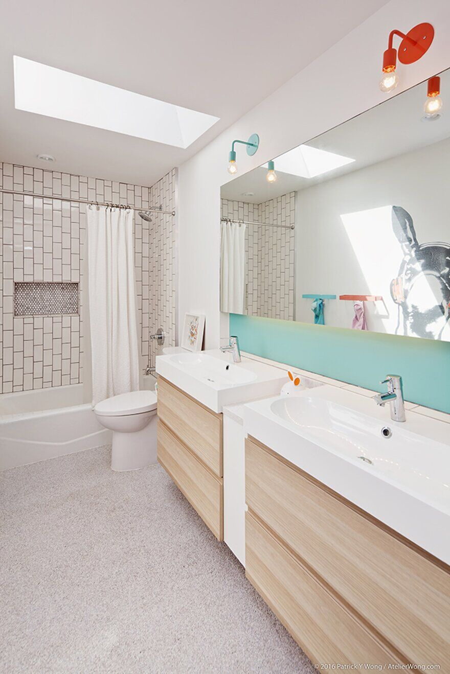 bathroom, An Addition and Renovation to a 1960's Texas Ranch Style House