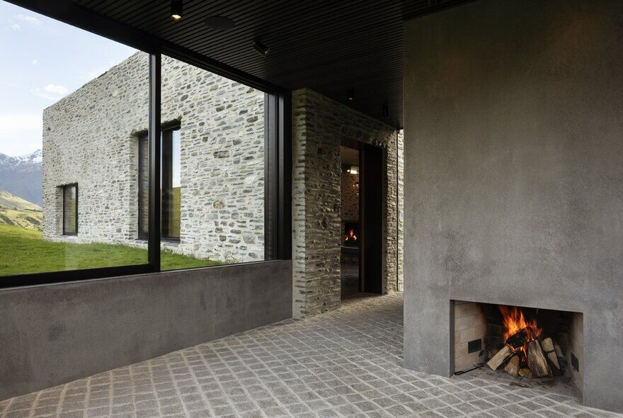 fireplace, RTA Studio