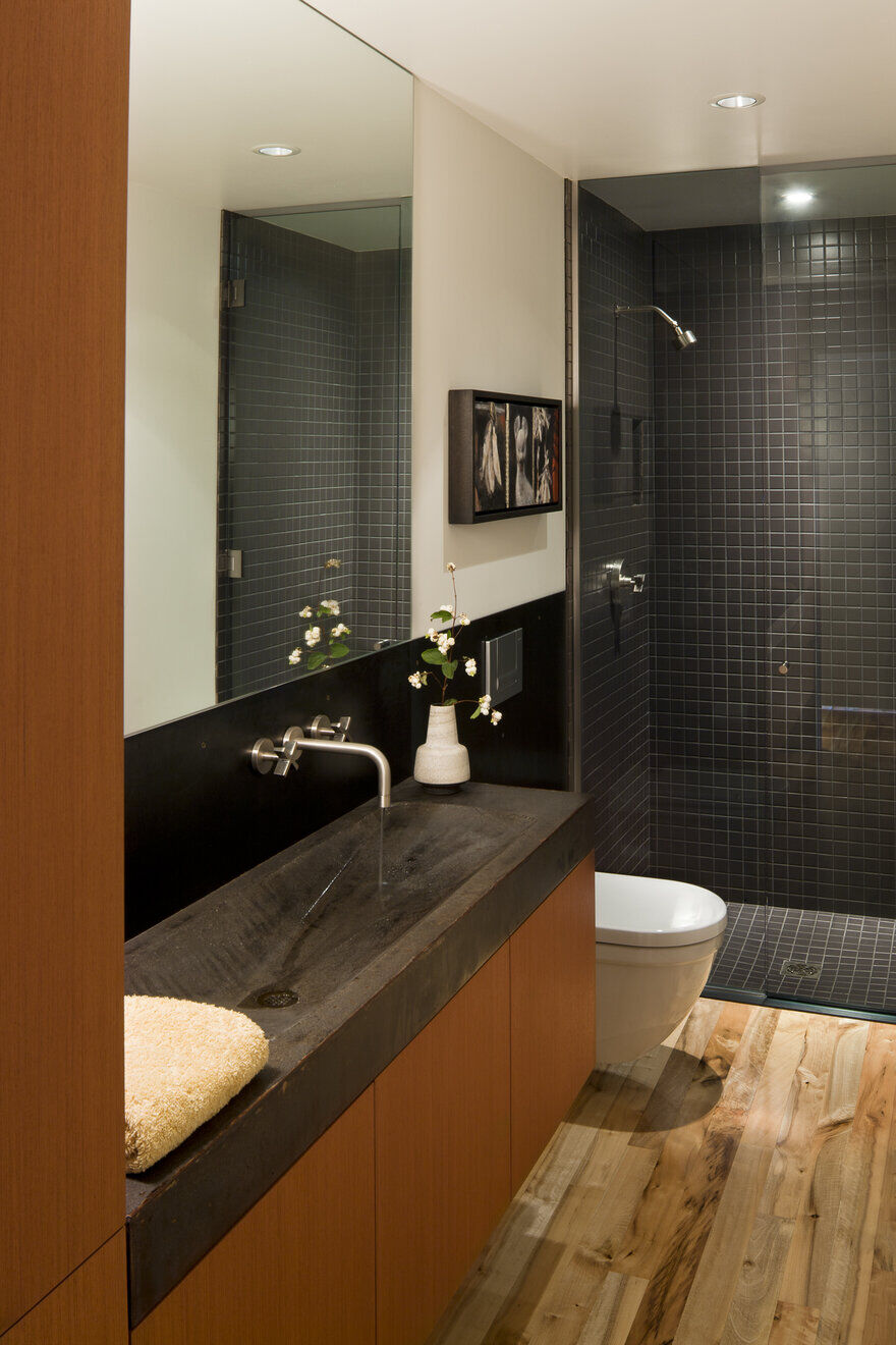 bathroom, a Mid-Century Transformation by Rerucha Studio