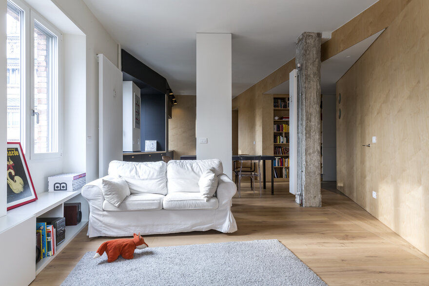 Light Infused Fully Renovated Apartment in Turin by BLAARCHITETTURA