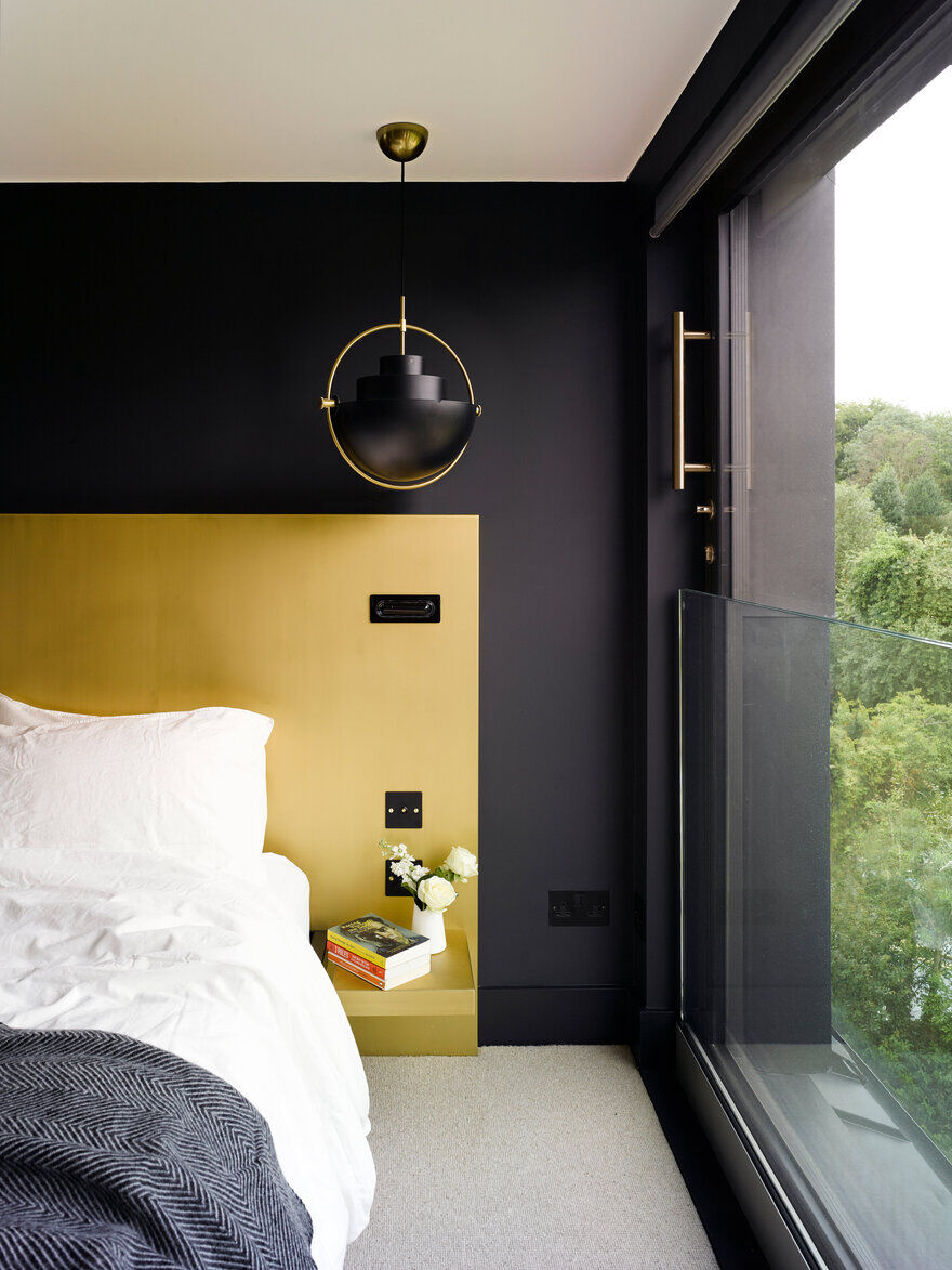 bedroom, Well Lane project, Mulroy Architects