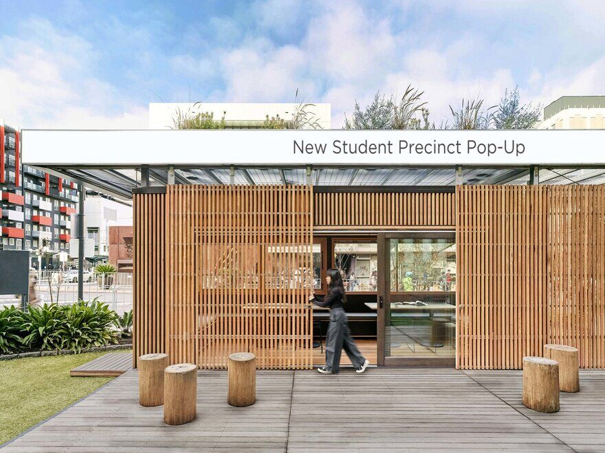 New Student Precinct Pop-Up by Breathe Architecture