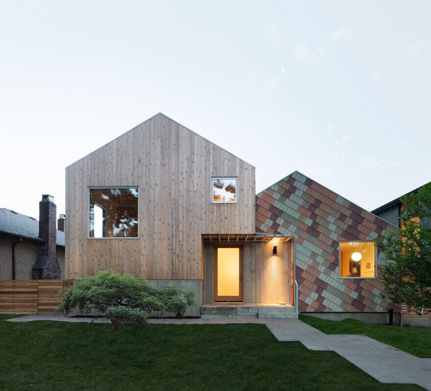 Shift House by Measured Has a Colorful, Confetti-Like Facade