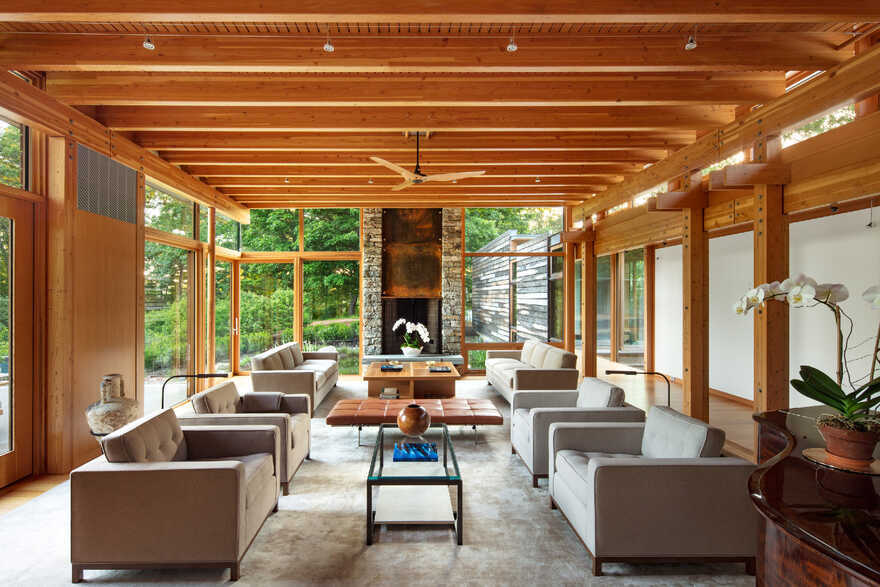 living room, Cutler Anderson Architects