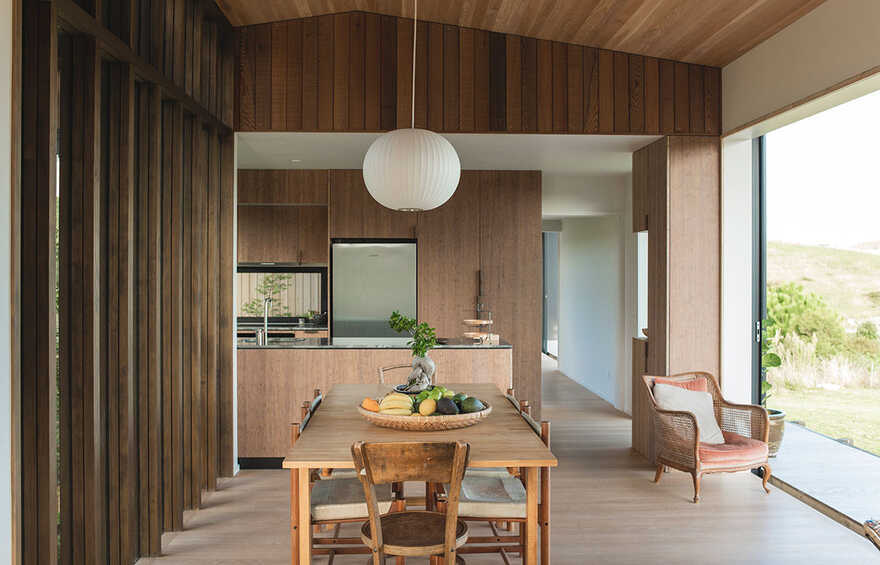 dining room, Japanese Modernism Meets New Zealand Construction