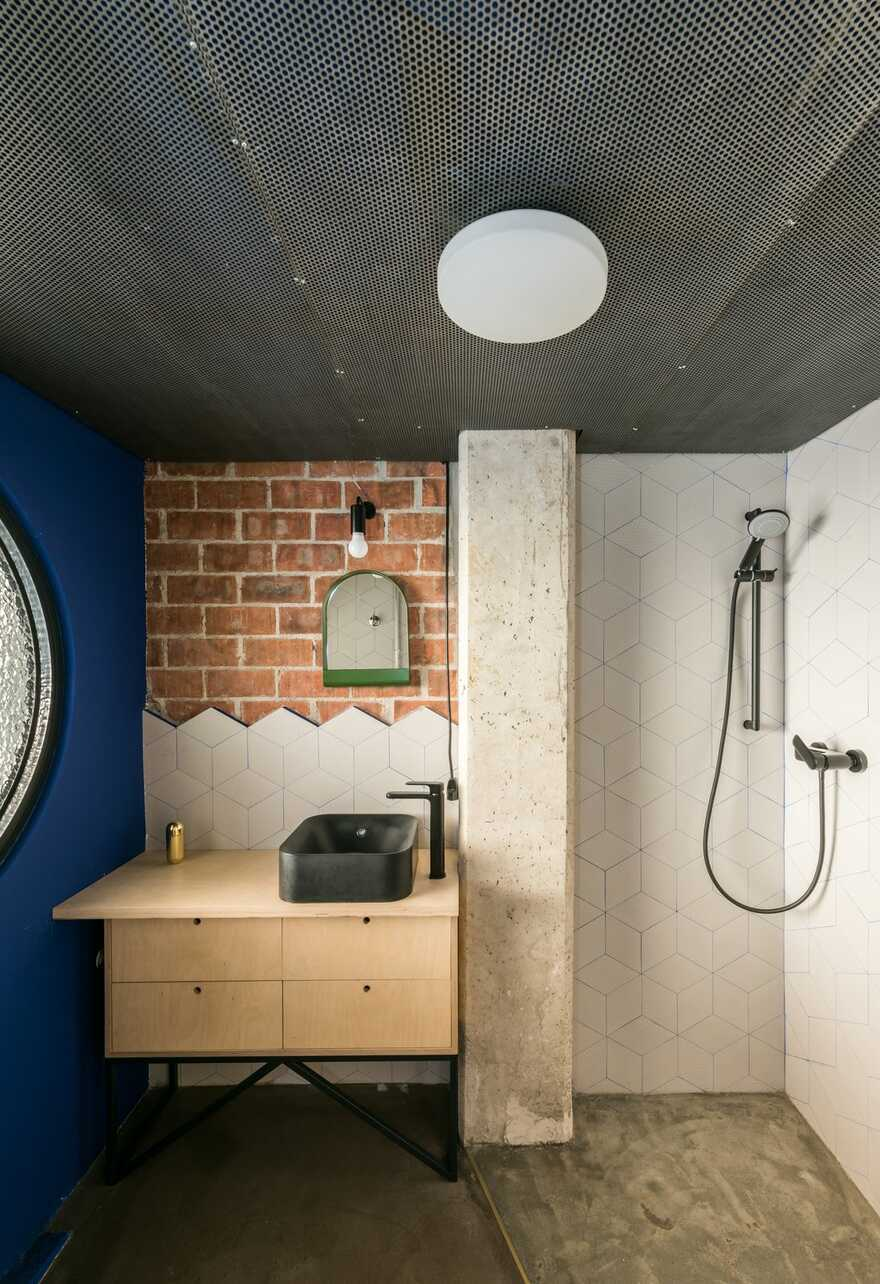 bathroom - a Recycled House into Another House