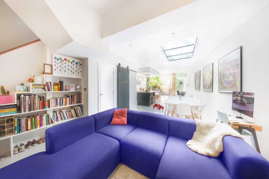 living room, Adam Knibb Architects
