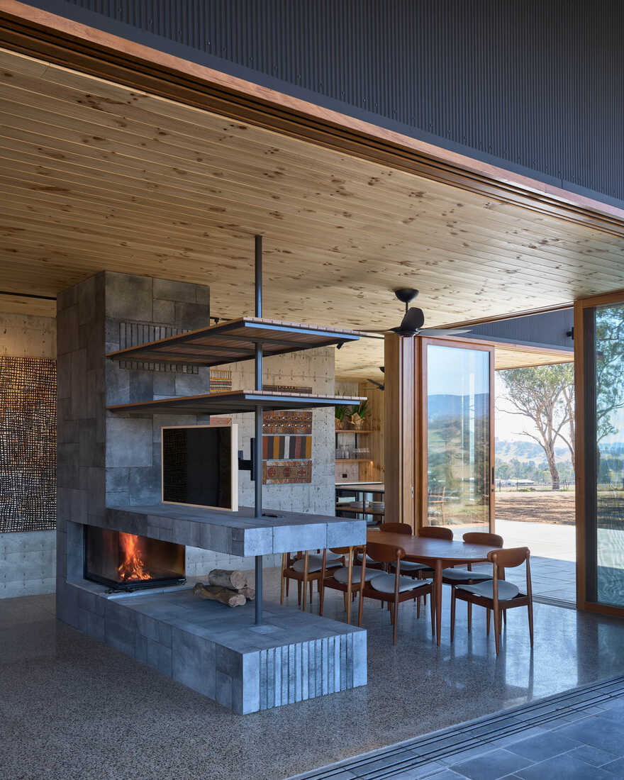 fireplace / Alexander Symes Architect
