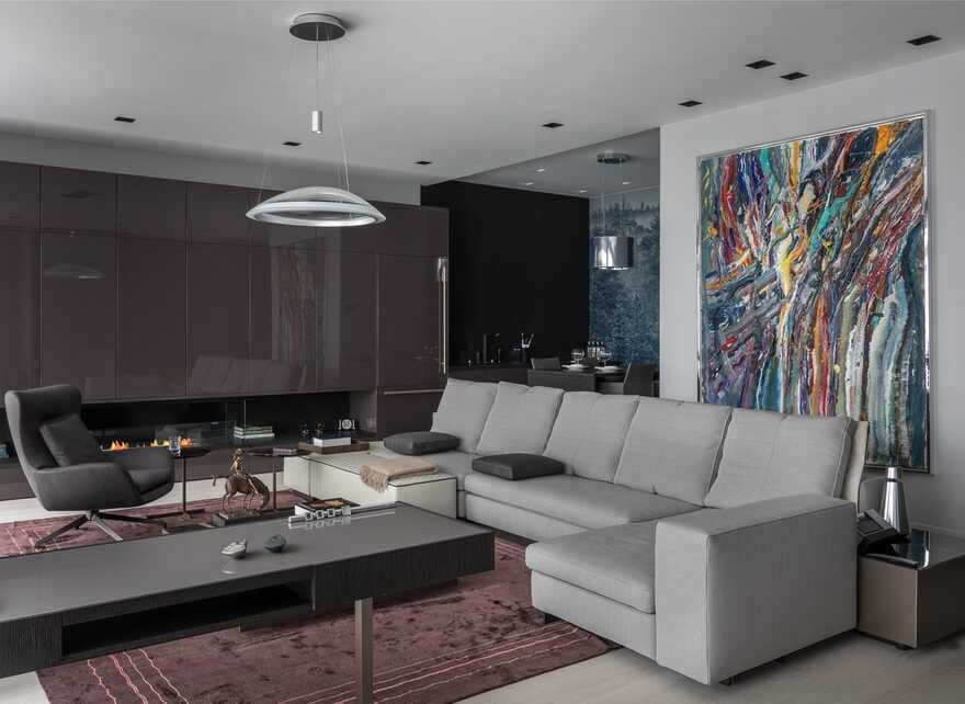 An Arbat Apartment in a Minimalist Aesthetic in the Center of Moscow
