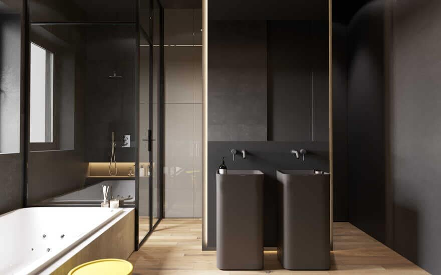 bathroom, Moscow / Cartelle Design
