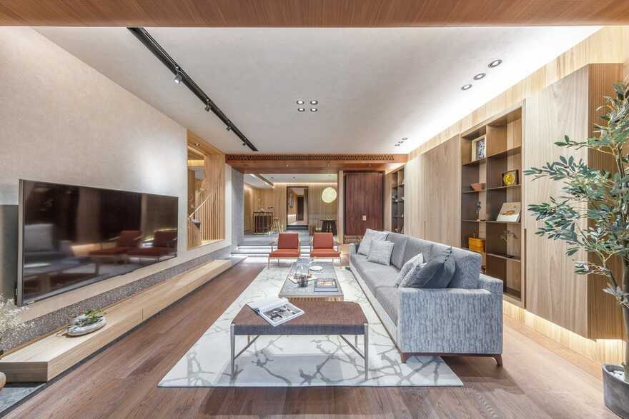 living room, Macau / Inward Journey from Max Lam Designs Wins Frame Award