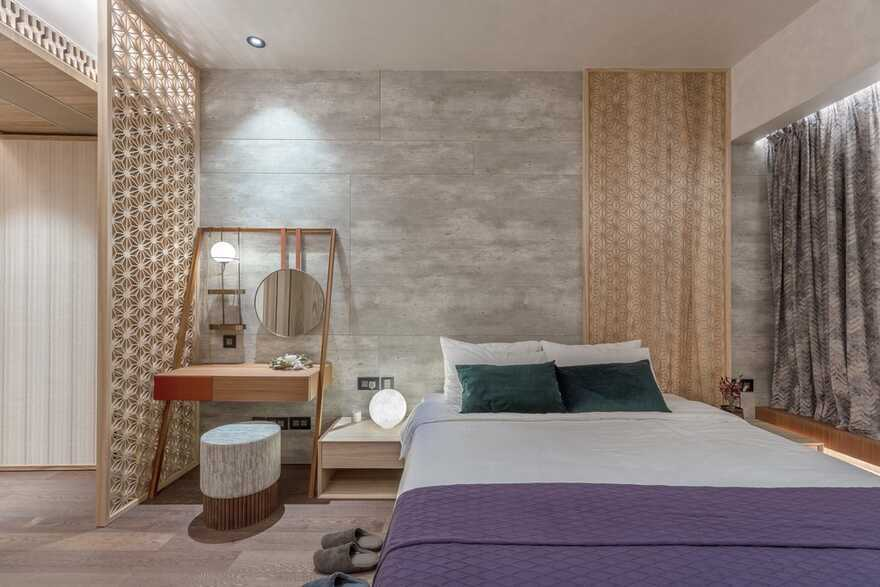 bedroom, Macau / Inward Journey from Max Lam Designs Wins Frame Award