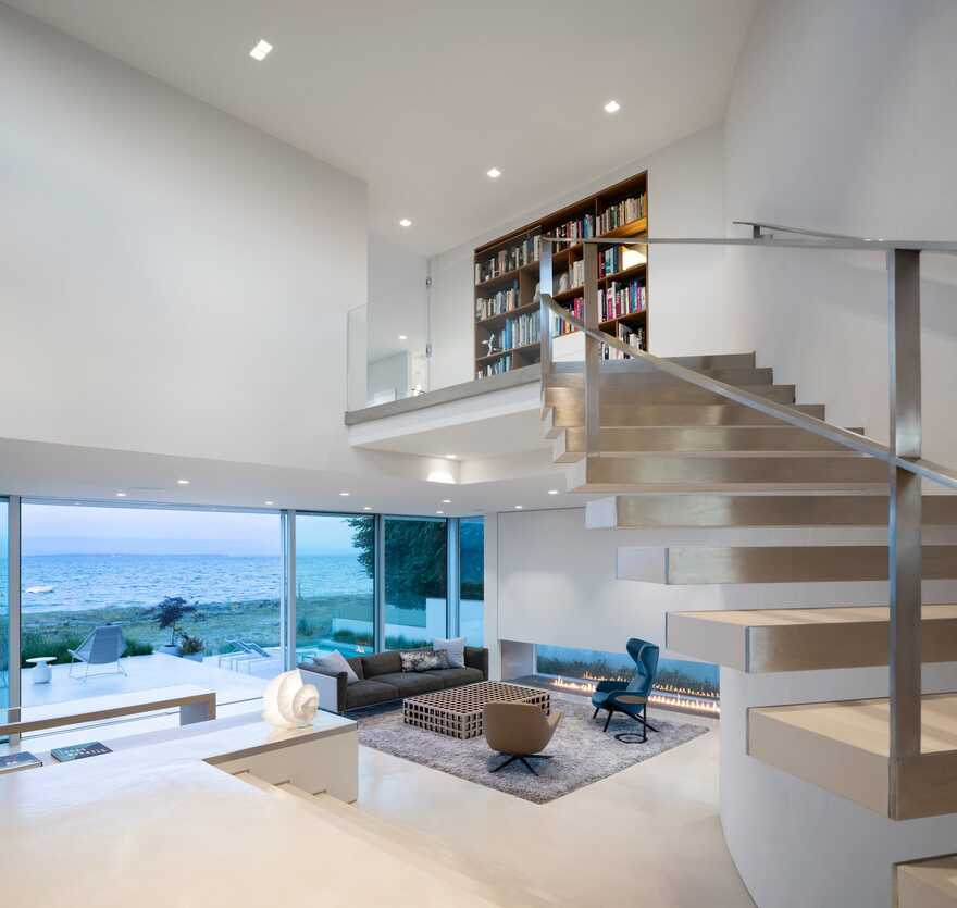living room, staircase / Frits de Vries Architects