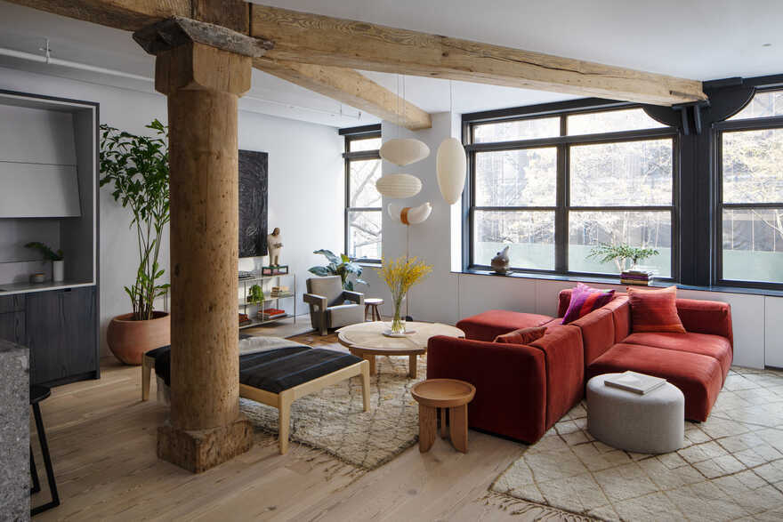 Loft in Chelsea for an Art Collecting Couple with Small Children