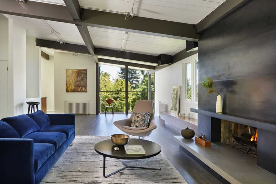living room, Seattle, Washington...a Mid-Century House Renovation