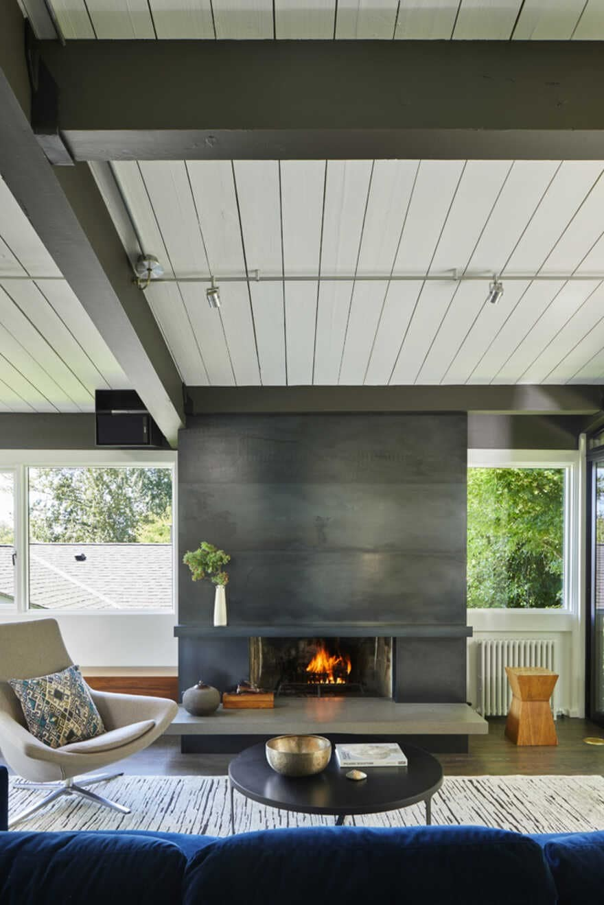 fireplace, Seattle, Washington...a Mid-Century House Renovation