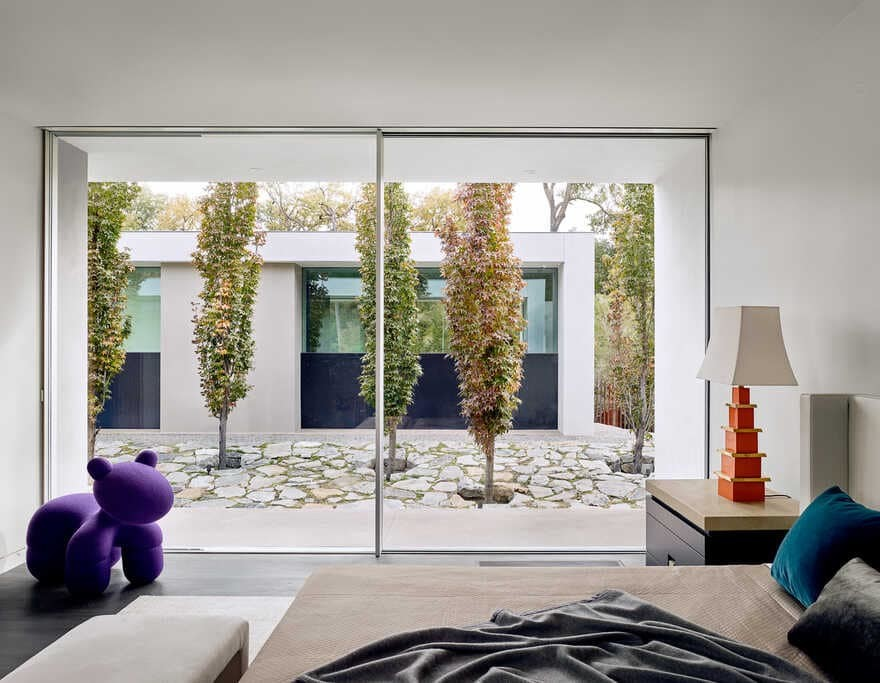 The Preston Hollow home by Specht Architects, bedroom