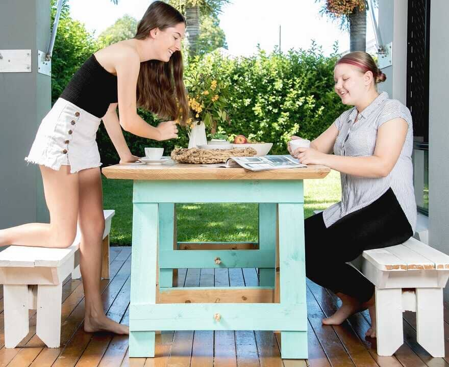 outdoor table, Woody's Cabinetry