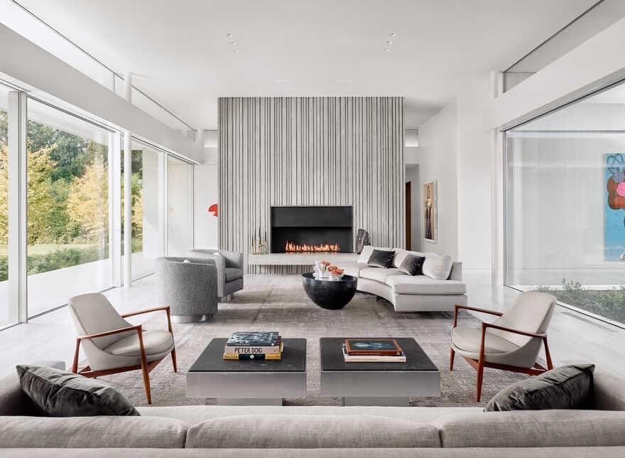 The Preston Hollow home by Specht Architects, living room
