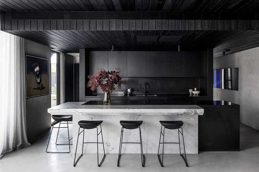 kitchen, a Brutalist Home in a Former Textile Factory