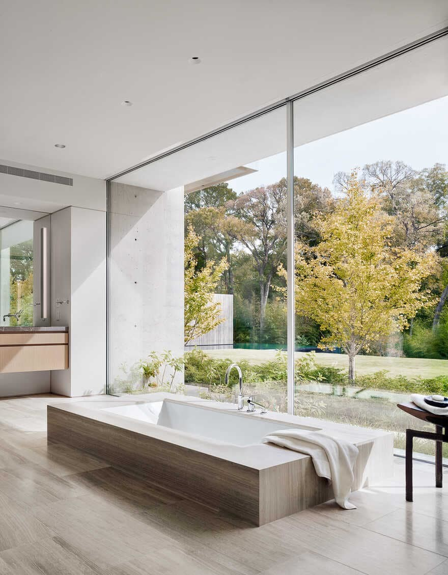The Preston Hollow home by Specht Architects, bathroom