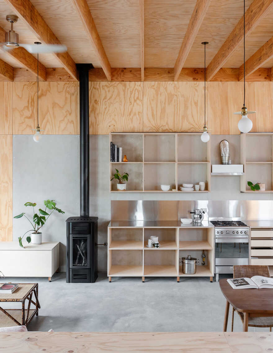 kitchen, fireplace by Curious Practice
